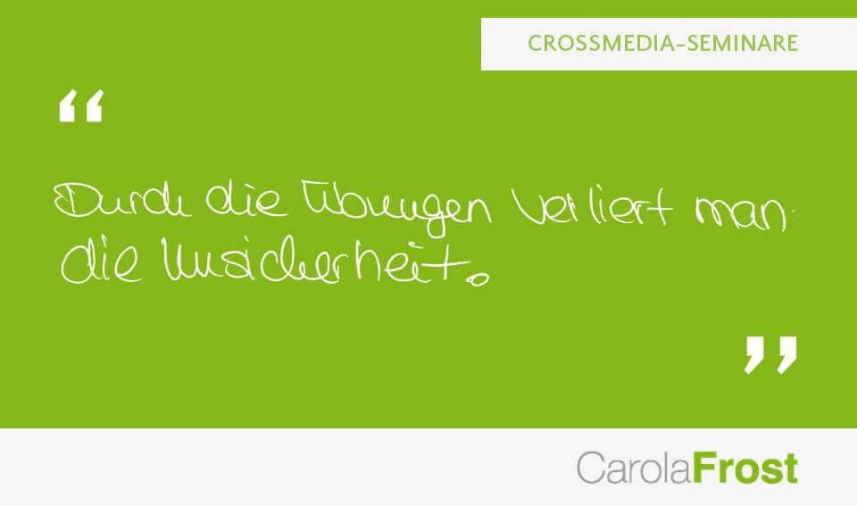 Carola Frost_Beurteilung_Crossmedia-Workshop