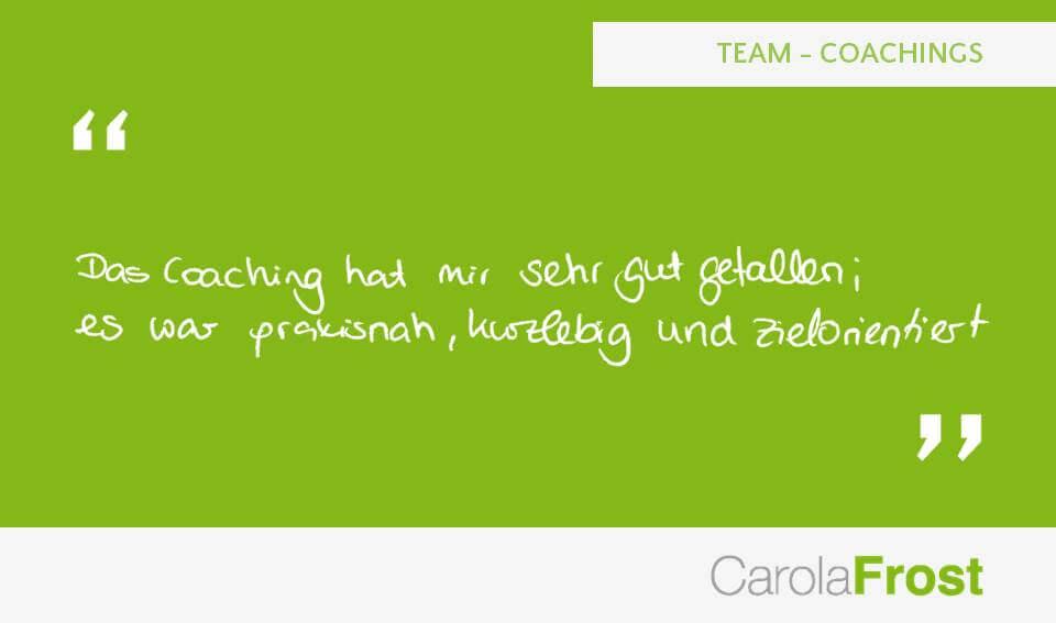 Carola Frost_Bewertung_Team-Coachings