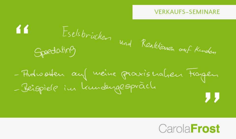 Carola Frost_Bewertung_Verkaufstraining