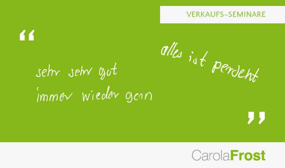 Carola Frost_Teilnehmer_Feedback_Verkauf
