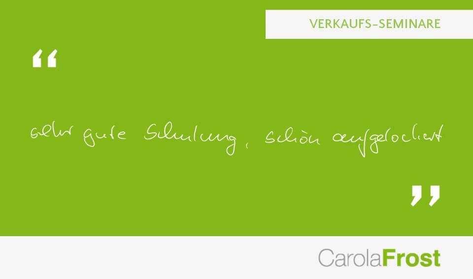 Carola Frost_Teilnehmerstimmen_Anzeigen_Verkauf_Seminar