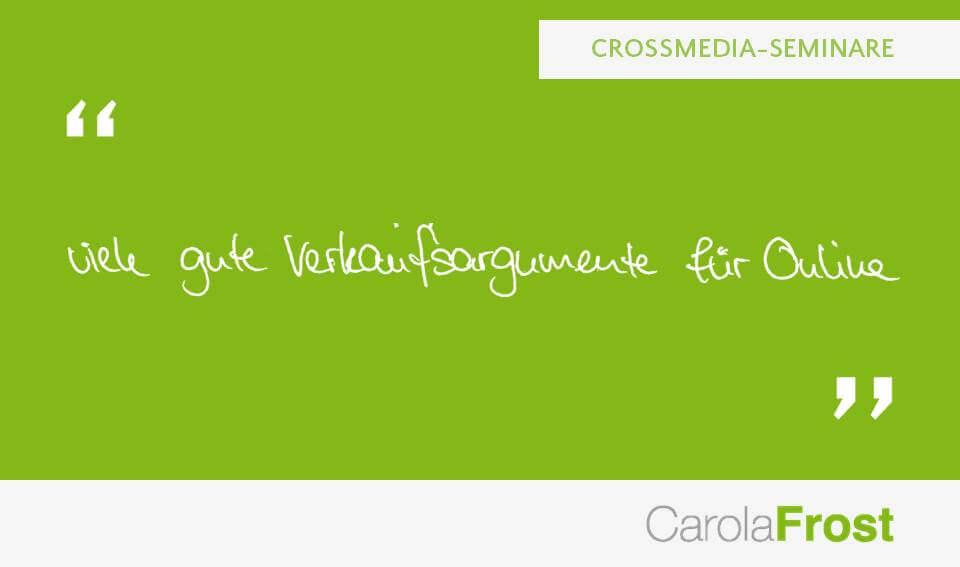 Carola Frost_Beurteilung_Online-Seminare