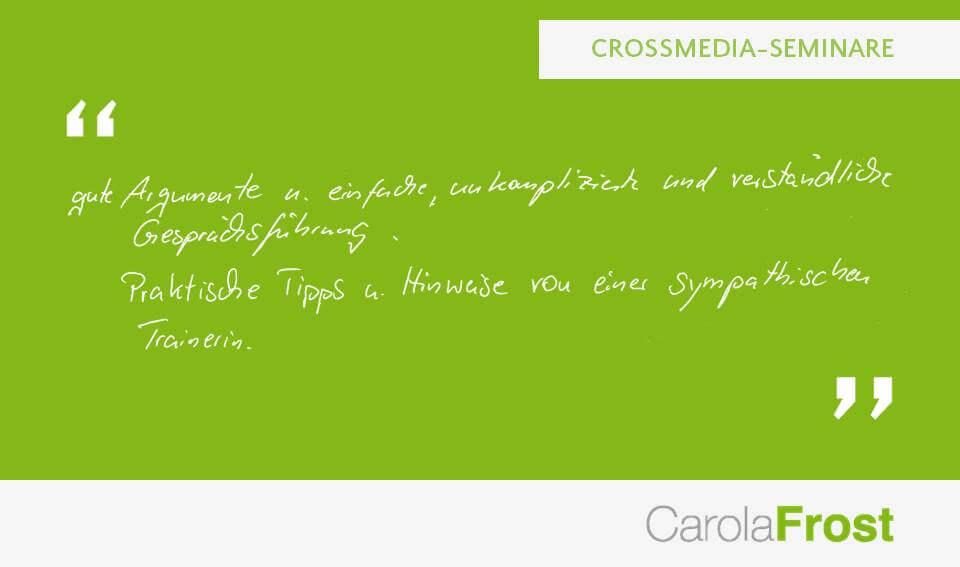 Carola Frost_Statement_Online-Seminare
