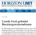 Carola Frost gründet Beratungsunternehmen