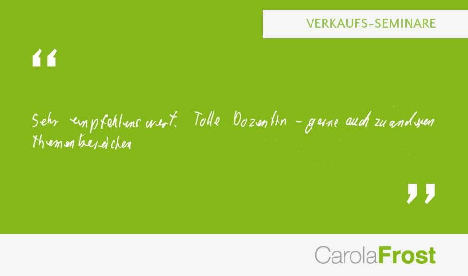 Carola Frost_Beurteilung_Seminar