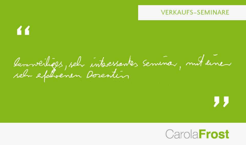 Carola Frost_Kundenmeinung_Verkaufstraining