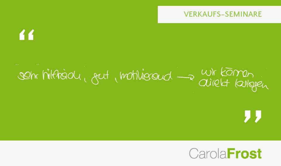 Carola Frost_Teilnehmerfeedback_Seminar