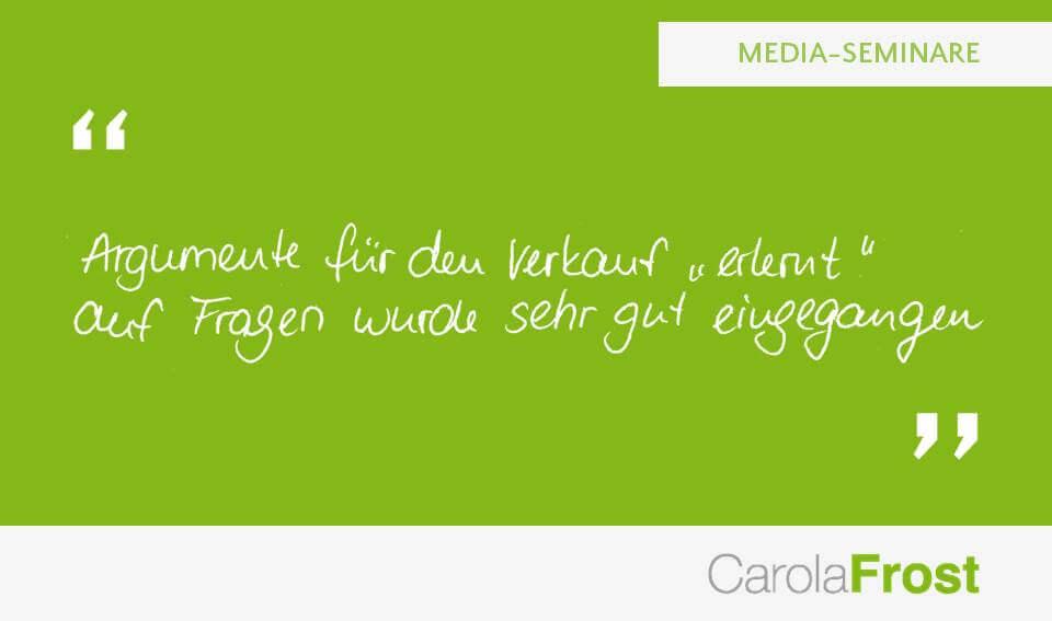 Carola Frost_Bewertung_Mediaplanung_Seminar