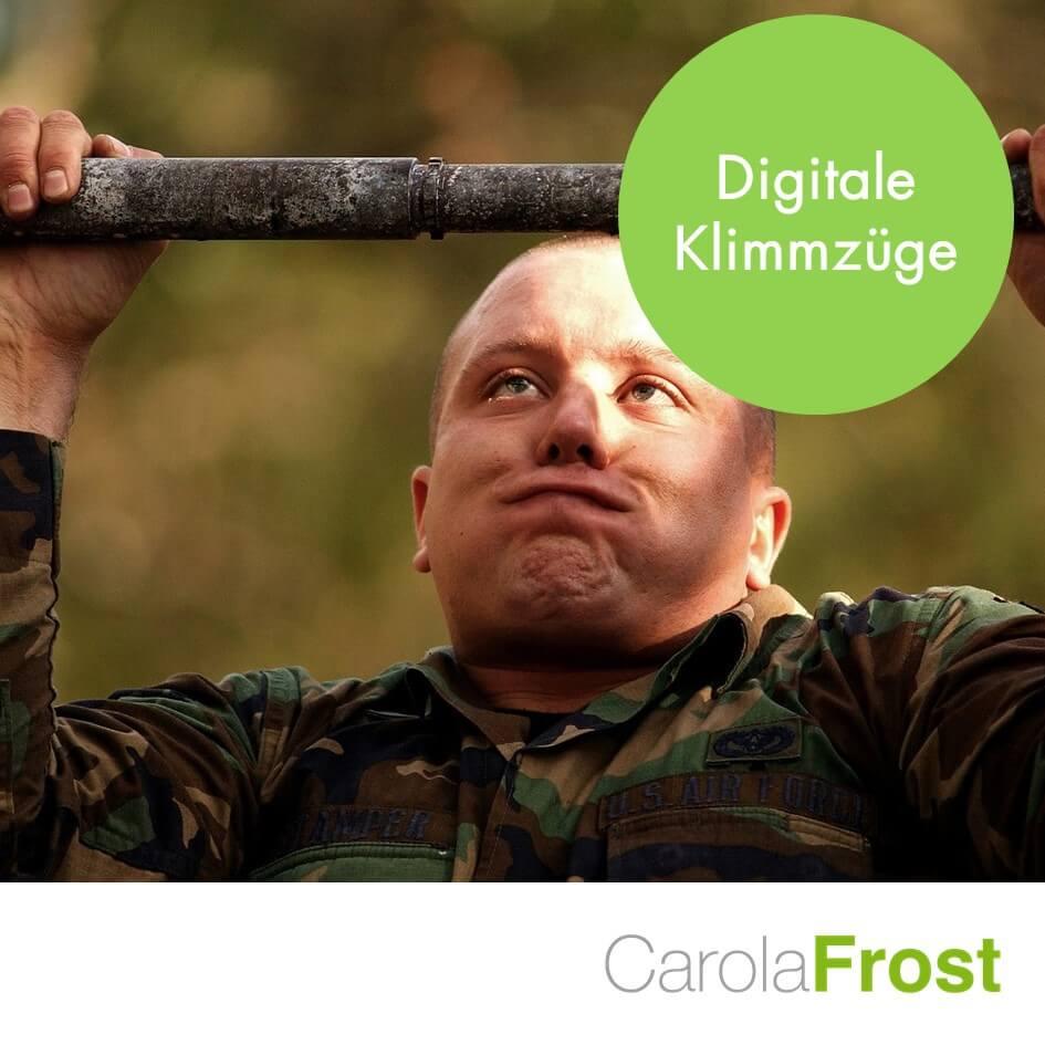 Digitale Klimmzüge_Carola Frost