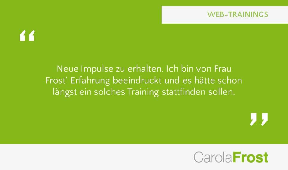 Carola Frost Webinar Anzeigenverkauf Verkaufsschulung