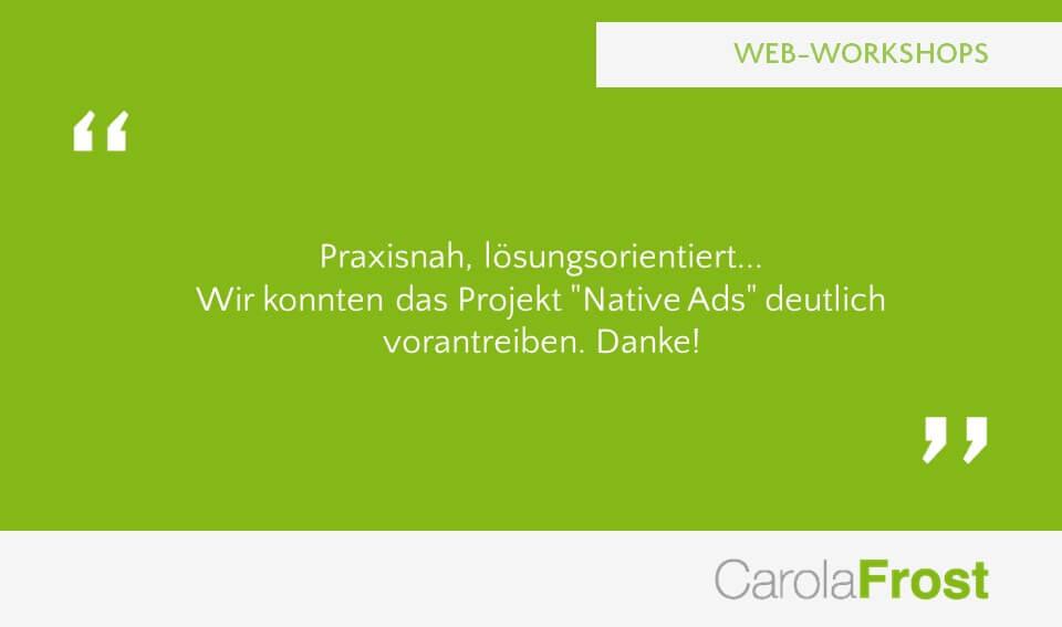 Carola Frost Webinar Strategieworkshop Verlagsstrategie