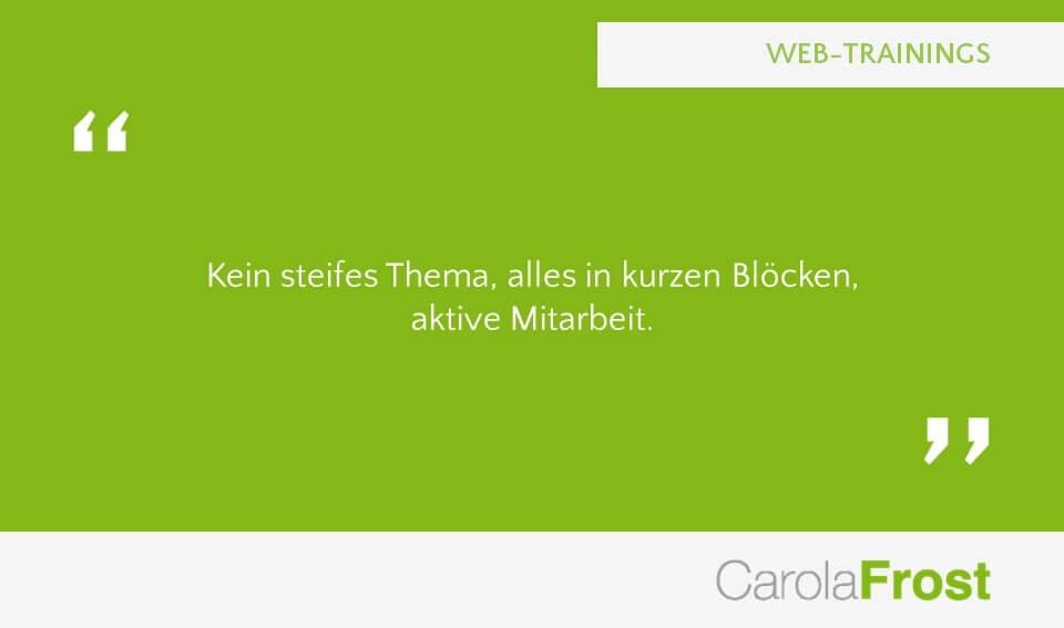 Carola Frost Webinar Training Anzeigenverkaufsseminar Verkaufsschulung