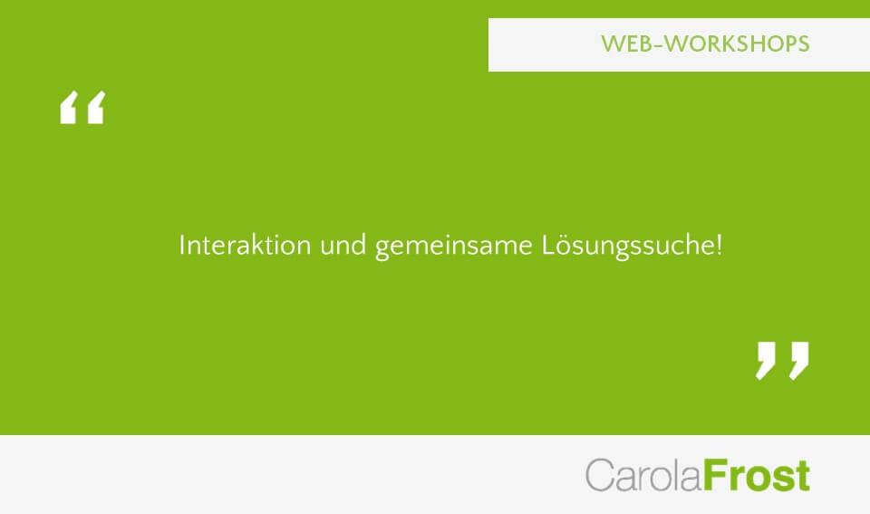 Carola Frost Webinar Zusammenarbeit Verlagsorganisation
